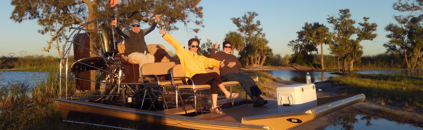 Instagator Airboat Rides - Happy Passengers