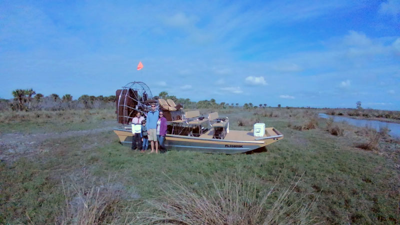 Airboat on land