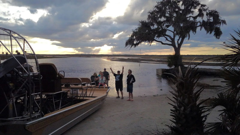 Sunset airboat rides